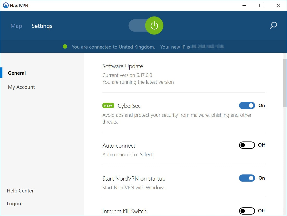 NordVPN settings