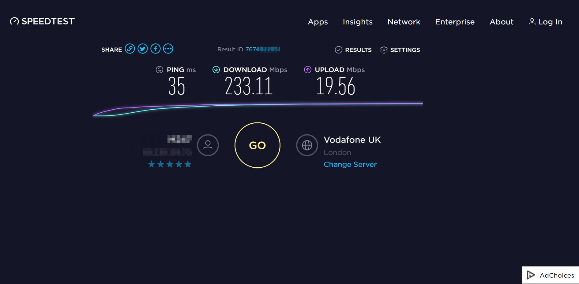 NordVPN speed test UK London
